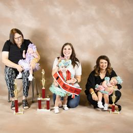 Remi Grace Butler, 1st Runner Up Mary Catherine Jordan, Baby Miss Real Squeal, Prettiest Dress, Prettiest Smile and Most Beautiful  Carlie Ann Long, 2nd Runner Up