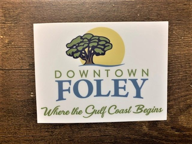 """4"""" X 3""""  Downtown Foley Stickers Image"""