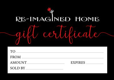 Re-Imagined Home $25 Gift Certificate Image