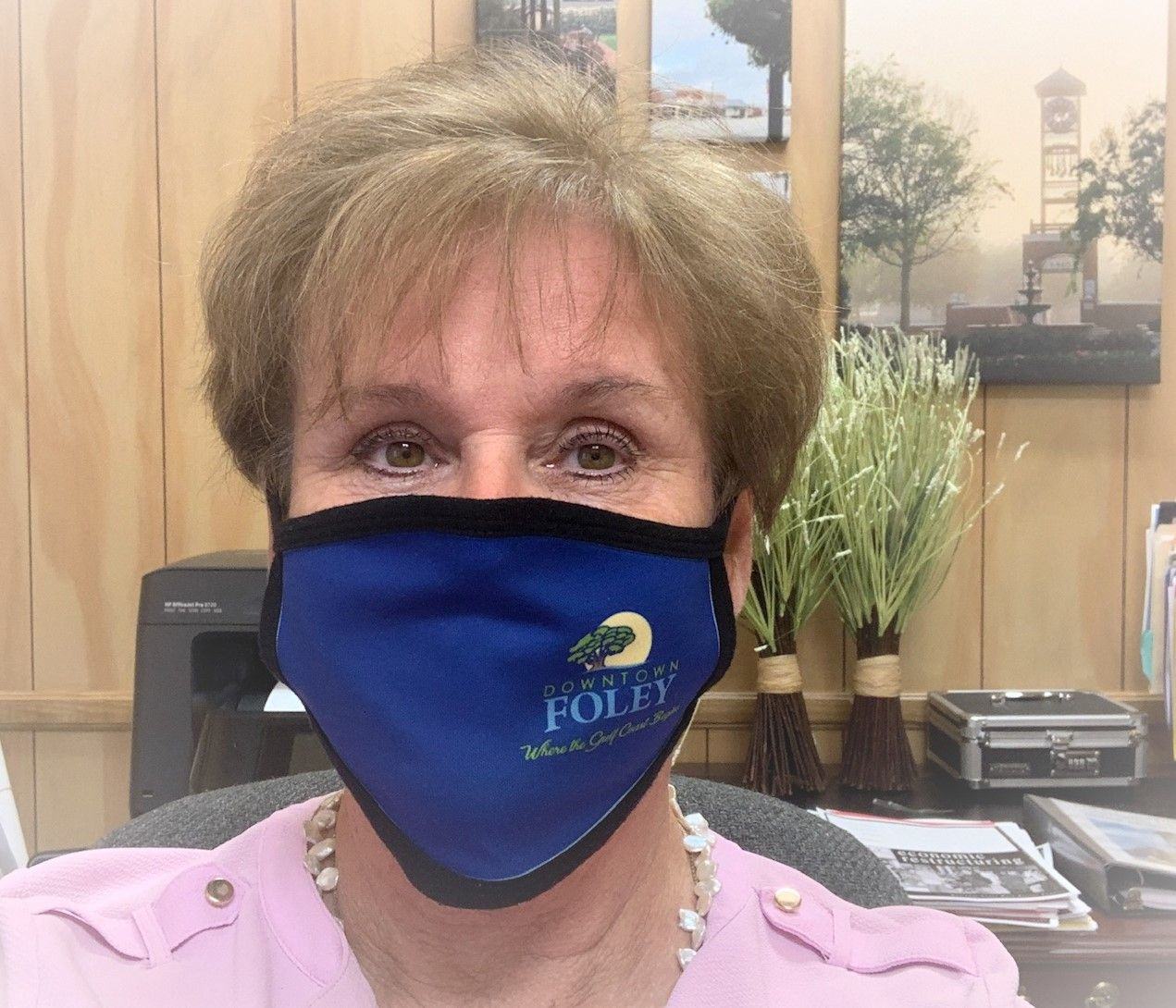 Downtown Foley Face mask  Image