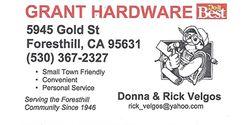 Grant Plumbing & Hardware