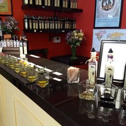 Sampling our olive oils and balsamics are always a fun way to find your favorite flavor.