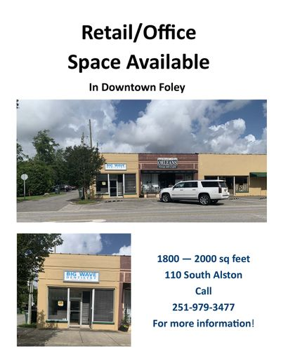 Downtown Foley for Lease