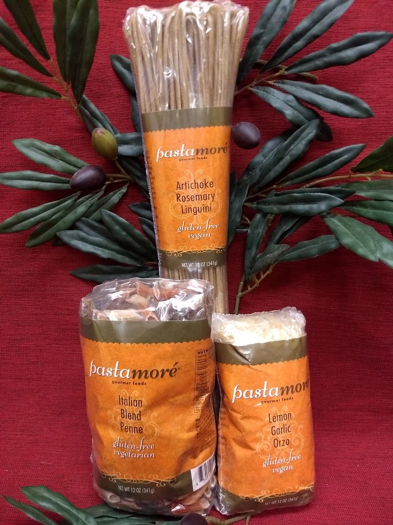 Several pasta flavors to choose from. We have gluten free and vegan choices also