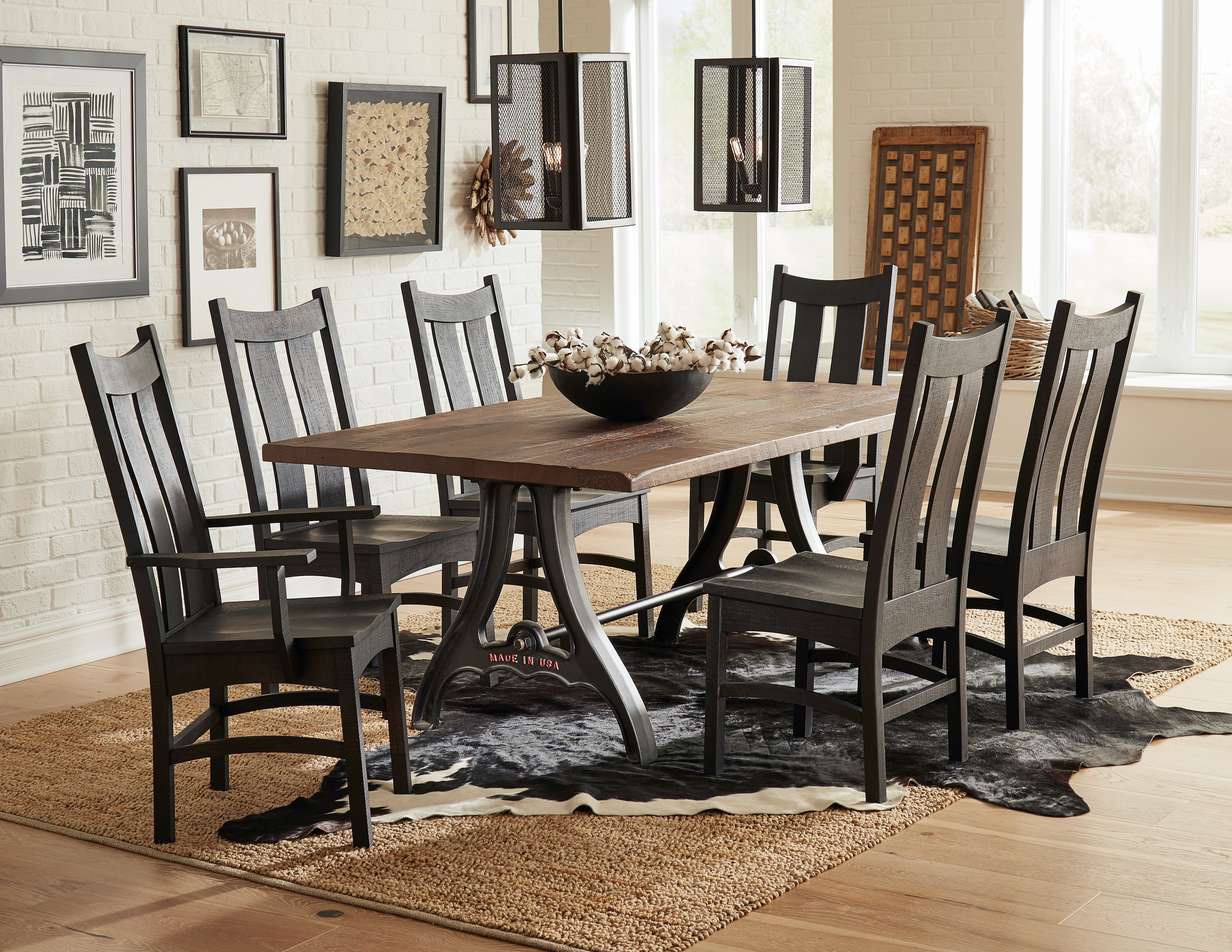 Country Shaker Dining, Shaker Dining Room Table And Chairs