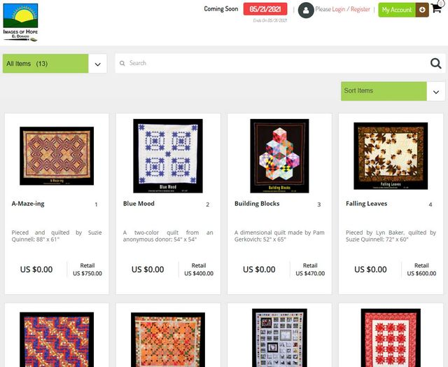 Images of Hope Auction Overview page