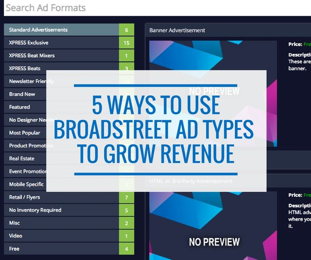 Ad Types from Broadstreet